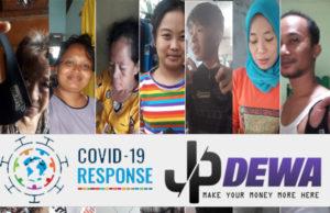 Lawan Covid - 19 Team JPDewa Bagikan ribuan masker gratis